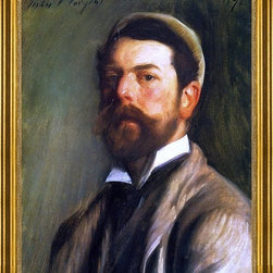 """John Singer Sargent-16""""x20"""" Framed Canvas - 16"""" x 20"""" John Singer Sargent Self Portrait framed premium canvas print reproduced to meet museum quality standards. Our museum quality canvas prints are produced using high-precision print technology for a more accurate reproduction printed on high quality canvas with fade-resistant, archival inks. Our progressive business model allows us to offer works of art to you at the best wholesale pricing, significantly less than art gallery prices, affordable to all. This artwork is hand stretched onto wooden stretcher bars, then mounted into our 3"""" wide gold finish frame with black panel by one of our expert framers. Our framed canvas print comes with hardware, ready to hang on your wall.  We present a comprehensive collection of exceptional canvas art reproductions by John Singer Sargent."""