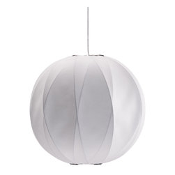 Zuo Modern Contemporary, Inc. - Coriolis Ceiling Lamp, White - Hangs like the moon over the dining room table. White silk wraps around a curved wire frame to form the Coriolis Ceiling Lamp. Adds a subtle elegance to the upper real estate of any room.