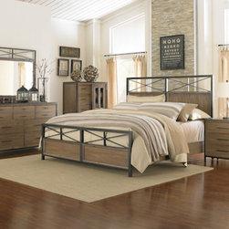 Magnussen Home Furnishings - Shady Grove Metal and Wood Bedroom Set -
