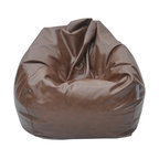 The Big Pear Bean Bag, Brown, Pu Leather - We call this The Big Pear! Comfort at it's best!