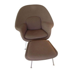 DWR Saarinen Womb Chair & Ottoman - $4,853 Est. Retail - $3,000 on Chairish.com -