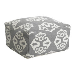 Andalusia Dhurrie Pouf - Add a punch of pattern in small doses. I love this pouf!