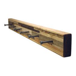 Six Finger Studios - 6 Hook Coat Rack Recycled Wood (Kubala Style), 6 Hook - 6 Hook Coat Rack Recycled Wood (Made to Order)
