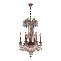 Worldwide Lighting - Winchester Collection 9 Lights Antique Bronze Finish & Clear Crystal Chandelier - This stunning 9-light Chandelier only uses the best quality material and workmanship ensuring a beautiful heirloom quality piece. Featuring a cast aluminum base in beautiful antique bronze finish and all over clear crystal embellishments made of finely cut premium grade 30% full lead crystal, this chandelier will give any room sparkle and glamour. Worldwide Lighting Corporation is a premier designer manufacturer and direct importer of fine quality chandeliers, surface mounts, and sconces for your home at a reasonable price. You will find unmatched quality and artistry in every luminaire we manufacture.