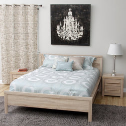 None - Julia Queen-size Bed and Two Nightstands Bedroom Set - Add a fresh look to your bedroom decor with the Julia Bedroom Set, which includes a queen-size bed and two nightstands. Each piece in this set offers a durable construction and a stunning Light Sonoma Oak finish.