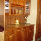 "Schrock - Showroom displays - Cabinetry is Schrock Princeton Arch, ""Brierwood"" on maple"