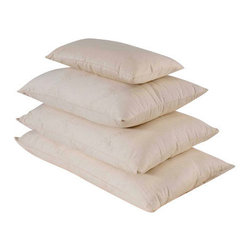 Bio Sleep Concept - Organic Wool Medium Pillow, King - Amazing, hand crafted bed pillows. Our pillows are made exclusively using Natural Felt certified organic cotton, and manufactured in the State of Oregon. Our pillows come in three sizes. Standard (20x25) Queen (20x30) King (20x36) Our products bear the organic cotton logo.
