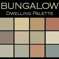 "Benjamin Moore Paint colors - Color in Space Bungalow Palette™ --organic & calm - Each palette consists of twelve Benjamin Moore® paint colors in 4"" swatches and no colors are repeated. The intentional selection of the twelve colors ensures that they are energetically balanced and will create the feeling of the dwelling for which it is named."
