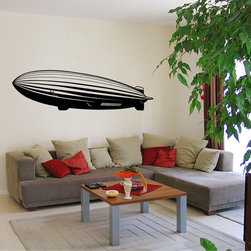 StickONmania - Blimp Sticker - A nice vinyl sticker and wall art design for your home  Decorate your home with original vinyl decals made to order in our shop located in the USA. We only use the best equipment and materials to guarantee the everlasting quality of each vinyl sticker. Our original wall art design stickers are easy to apply on most flat surfaces, including slightly textured walls, windows, mirrors, or any smooth surface. Some wall decals may come in multiple pieces due to the size of the design, different sizes of most of our vinyl stickers are available, please message us for a quote. Interior wall decor stickers come with a MATTE finish that is easier to remove from painted surfaces but Exterior stickers for cars,  bathrooms and refrigerators come with a stickier GLOSSY finish that can also be used for exterior purposes. We DO NOT recommend using glossy finish stickers on walls. All of our Vinyl wall decals are removable but not re-positionable, simply peel and stick, no glue or chemicals needed. Our decals always come with instructions and if you order from Houzz we will always add a small thank you gift.