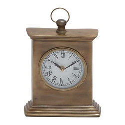 Benzara - Pillar Shaped Wooden Table Clock in Walnut - Pillar Shaped Wooden Table Clock in Walnut. Give your home that old world charm with this traditional themed wood table clock. Some assembly may be required.