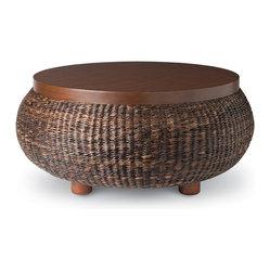 Palecek Havanawood Coffee Table Pole Rattan And
