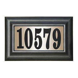 """Qualarc, Inc. - Edgewood Classic Lighted Address Plaque """"Do it yourself kit"""", Black - The Edgewood Classic is designed to maximize your home's curb appeal, while keeping a lid on costs."""