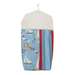 Glenna Jean - Glenna Jean Set Sail Diaper Stacker - The Glenna Jean Set Sail Diaper Stacker is a beautiful and convenient way to keep your babys diapers out of sight. Hang from crib rails or changer for best access during diaper changes. Diaper Stacker measures 14 x 25 x 8.5.