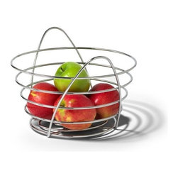 Spectrum Diversified Designs - St. Louis Fruit Bowl - Inspired by the iconic Midwestern arch, the St. Louis Fruit Bowl lets you display your fruits and vegetables in style, while adding a unique and contemporary touch to your home. Made of sturdy steel, the bowl accommodates a large capacity of items, making it great for any room in your home.