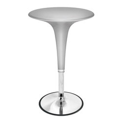 LUMISOURCE - Lumisource Gelato Bar Table, Silver - Retro design combined with adjustable height hydraulics make the Gelato Bar Table both functional and stylish. The table's height adjusts to meet your needs and the design features a chrome base and support post. Bring a little joy into your home or bar with the Gelato Bar Table! For licensed Gelato Bar Tables refer to pages 84 and 85.