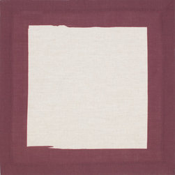 Huddleson Linens - Cinta Border Linen Napkin, Burgundy - Natural linen napkin featuring a hand-painted black border.  Available in eight rich colors – perfect for mixing and matching and making the tablescape your own.