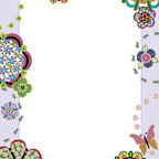 "WallPops - Flower Power Dry-Erase Board Wall Decal - This sweet dry-erase message board makes a beautiful frame for your thoughts with quilted flowers and dragonflies. Take advantage of super peel & stick convenience to get yourself organized in style. Flower Power Dry-Erase Boards are 13"" x 17.75"" and include a WallPops dry-erase marker. Flower Power Dry-Erase Boards are repositionable and totally removable"