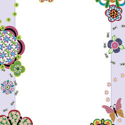 """WallPops - Flower Power Dry-Erase Board Wall Decal - This sweet dry-erase message board makes a beautiful frame for your thoughts with quilted flowers and dragonflies. Take advantage of super peel & stick convenience to get yourself organized in style. Flower Power Dry-Erase Boards are 13"""" x 17.75"""" and include a WallPops dry-erase marker. Flower Power Dry-Erase Boards are repositionable and totally removable"""