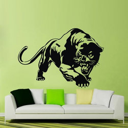 ColorfulHall Co., LTD - Jungle Animal Panther Wall Sticker Cheetah Wall Decals - You will find hundreds of affordable peel - and - stick wall decal designs, suitable for all kinds of tastes and every room in your house, including a children's movie theme, characters, sports, romantic, and home decor designs from country to urban chic. Different from traditional decals, vinyl wall decals is with low adhesive that allows you to reposition as often as you like without damaging the paint. Application is easy: peel offer the pre-cut elements on the design with a transfer film, and then apply it to your wall. Brighten your walls and add flair to your room is just as easy.
