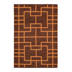 Barclay Butera Lifestyle - Barclay Butera Lifestyle Maze Maz02 Paris Area Rug - A Barclay Butera Maze rug has a tantalizing appearance with interlocking geometric patterns. The area rug features a two-toned color palette that works with many different decorating styles. Whether you want to use it as a focal point in a dining room or liven up a traditional space, the rug will definitely make a difference in a room. Create a cozy, warm space by placing a rug under a cream silk velvet chair. Maze area rugs are constructed with a flat weave design.