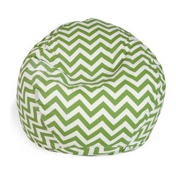 Outdoor Sage Chevron Small Bean Bag