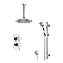 Remer - Sleek Round Rain Shower Faucet Set - Multi function shower faucet.