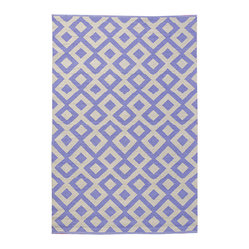 Tile Area Rug, Periwinkle/Shell, 4