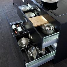 Contemporary Kitchen Drawer Organizers by Belle Design Build