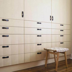 Leather Pulls and Handles - Butterfly leather pulls for drawers and cabinets