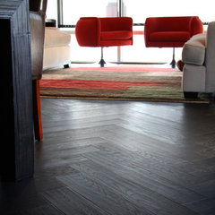 contemporary wood flooring by Burchette & Burchette Hardwoods
