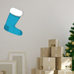 Christmas Stocking Vinyl Wall Decal ChristmasStockingUScolor005; 12 in. - Vinyl Wall Decals are an awesome way to bring a room to life!