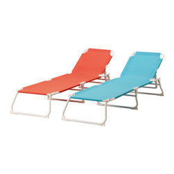 Håmö Chaise - After paying so much for rent, urban dwellers may not want to shell out for an expensive teak lounge chair, especially if there's no room to store it during winter. Your best bet is to head to Ikea, where this summer's new collection features classic styles in sherbert colors.