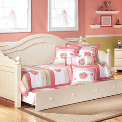 Signature Design by Ashley - Signature Design by Ashley Cottage Retreat Cream Day Bed with Trundle - Enjoy the soft cream colors the Cottage Retreat daybed offers your home. With its sturdy vintage frame it is sure to go well in any room.