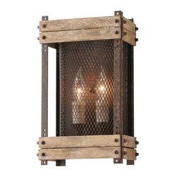Troy Lighting - Troy Lighting B4062 Merchant Street Rusty Iron Wall Sconce - Troy Lighting B4062 Merchant Street Rusty Iron Wall Sconce