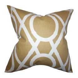 "The Pillow Collection - Whit Geometric Pillow Amber - Add this throw pillow as a finishing piece to your interior. Decorated with a geometric pattern in shades of brown and white, this 18"" pillow lends comfort and style. This plush accent pillow is made of 100% high-quality cotton material and proudly crafted in the USA. Pair with other pillows from our selection of gorgeous patterns and solids."