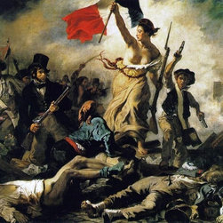 "Eugene Delacroix Liberty Leading the People - 16"" x 20"" Premium Archival Print - 16"" x 20"" Eugene Delacroix Liberty Leading the People premium archival print reproduced to meet museum quality standards. Our museum quality archival prints are produced using high-precision print technology for a more accurate reproduction printed on high quality, heavyweight matte presentation paper with fade-resistant, archival inks. Our progressive business model allows us to offer works of art to you at the best wholesale pricing, significantly less than art gallery prices, affordable to all. This line of artwork is produced with extra white border space (if you choose to have it framed, for your framer to work with to frame properly or utilize a larger mat and/or frame).  We present a comprehensive collection of exceptional art reproductions byEugene Delacroix."