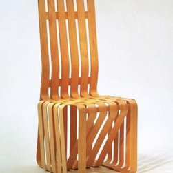Gehry High Sticking High Back Chair - Design Within Reach - Years before Bilbao made him the number one starchitect, Frank Gehry was still in hot demand. One suitor was Knoll, who commissioned a series he named after hockey terms.