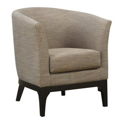 Coaster - Coaster Club Accent Chair in Beige - Coaster - Club Chairs - 900333 - Simple and clean. This barrel back accent chair with flared legs is wrapped in a soft beige fabric. Sit down and relax in this beautiful chair from Coaster.