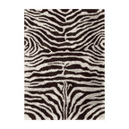 Nourison - Nourison Splendor SPL17 (Black, White) 5' x 7' Rug - Nourison Splendor carpets are marvelously soft and shaggy. Hand made of premium quality yarns in designs complement both contemporary and eclectic decor, these carpets create an atmosphere of casual elegance.