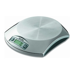 Taylor - Salter Stainless Steel Electronic Kitchen Scale - Salter Stainless Steel Electronic Kitchen Scale - hygienic platform is resistant to staining and flavor carry-over.  weigh on platform or use with any bowl or tray.  add & weight are feature.  5 lb/2 kg capacity in .1 oz/1 g increments