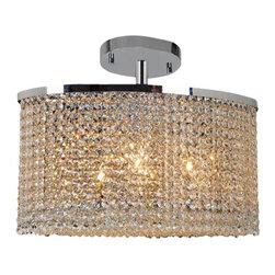 Worldwide Lighting - Worldwide Lighting W33764C20 Prism 7 Light Semi-Flush Ceiling Fixture - Features: