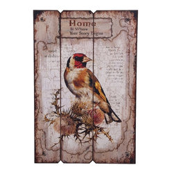 "Home Essentials - Decorative Wooden Bird Wall Art - Add  romance and beauty into your home with this Wooden Bird Wall Art. Just hang it up as your wall decor and it will lighten up the atmosphere in your home. This could make a wonderful gift for friends too.                               * Dimensions: 23.75""H"