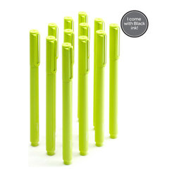 Signature Pen, Lime Green, Box Of 12 - Coordinate your brand, desk, or just your outfit with these pens.