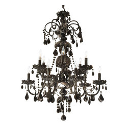 Gallery - Gallery T40-412 Authentic 12 Light 2 Tier Crystal Candle Style Chandelier - Features:
