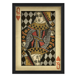 The Artwork Factory - 'Queen of Hearts' Print - Lady luck smiles on you — and your decor. This museum quality print on high resolution, acid-free paper makes a truly heartfelt style statement in your favorite setting.