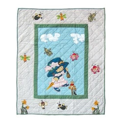 Patch Magic - Doll Crib Quilt - 36 in. W x 46 in. L. Handmade, hand quilted. 100% CottonMachine washable, but for best care hand wash in cold water. Do not machine dry. Do not dry clean. Line or flat dry only.