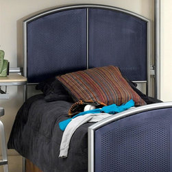 Hillsdale Furniture - Universal Youth Mesh Style Headboard w Silver - Choose Size: TwinA hint of industrial inspiration enhances this metal headboard, featuring an arched silver tone tubular frame with navy mesh panels for added visual interest. The modern piece is available in your choice of size options, and will be an inspired choice for any child's or student's bedroom. For residential use. Included: Headboard and Frame Rails. Silver/Navy Finish. Twin Headboard: 39 in. W x 48 in. H. Full Headboard: 54 in. W x 48 in. H. Twin/Full Leg Headboard Frame: 54 in. W x 76.5 in. L