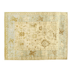 100% Wool Oriental Rug, 9'x12' Oushak Hand Knotted Vegetable Dyes Rug SH6791 - Hand Knotted Oushak & Peshawar Rugs are highly demanded by interior designers.  They are known for their soft & subtle appearance.  They are composed of 100% hand spun wool as well as natural & vegetable dyes. The whole color concept of these rugs is earth tones.