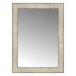 """Posters 2 Prints, LLC - 15"""" x 20"""" Libretto Antique Silver Custom Framed Mirror - 15"""" x 20"""" Custom Framed Mirror made by Posters 2 Prints. Standard glass with unrivaled selection of crafted mirror frames.  Protected with category II safety backing to keep glass fragments together should the mirror be accidentally broken.  Safe arrival guaranteed.  Made in the United States of America"""