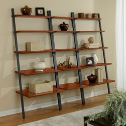 Jesper - Jesper Parson Ladder Wall System - B3071-B2271-B3071-CH - Shop for Ladders from Hayneedle.com! Books and vases and knickknacks oh my - you ve got a lot of stuff and the Jesper Parson Ladder Wall System lets you organize it all in style. Coming complete with two wide bookcases and one narrow this commercial-grade wall system is built tough thanks to the durable non-scratch wood laminate and solid steel frames. Five shelves on each bookcase give you the storage and display space you need and you can set these bookcases side-by-side or use one in each room of the house. In your choice of finish. For coordinating pieces shop other items in the Jesper 100 collection.Dimensions:Wide bookcase each: 30W x 29D x 71H inchesNarrow bookcase: 22W x 29D x 71H inchesOverall: 82W x 29D x 71H inchesAbout Jesper OfficeJesper Office originally based in Denmark specializes in making modular office furniture for homes and small businesses as well as a complementary line of modular library and home entertainment furniture. Now operating with a U.S. warehouse in Branchburg N.J. Jesper is committed to making high-quality flexible beautiful pieces with respect toward the environment. Furniture is made with contract-quality chipboard composed of pressed wood shavings and wood veneer a resource-effective and earth-friendly product.